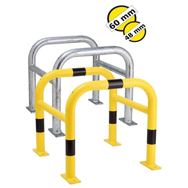 Säulenschutz -Mountain-, Ø 60 mm aus Stahl, Höhe 600 mm, verzinkt oder gelb/schwarz