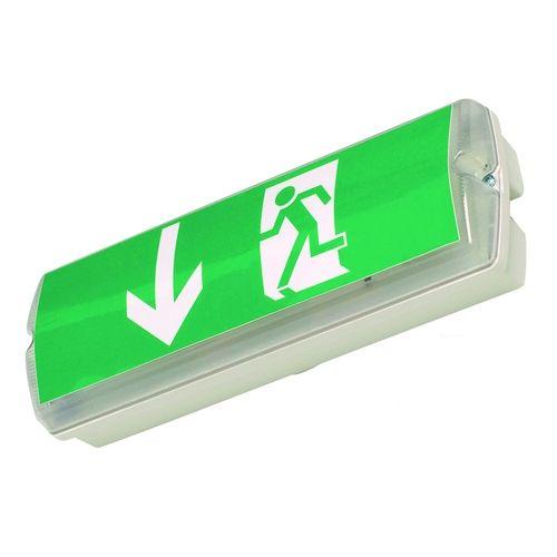 Rettungszeichenleuchte -Fux- LED, zur Wandmontage, Erkennungsweite 20 m