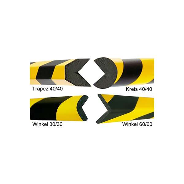 Kantenschutz -Safe- aus PU-, gelb/schwarz, flexibel, Länge 1000 mm