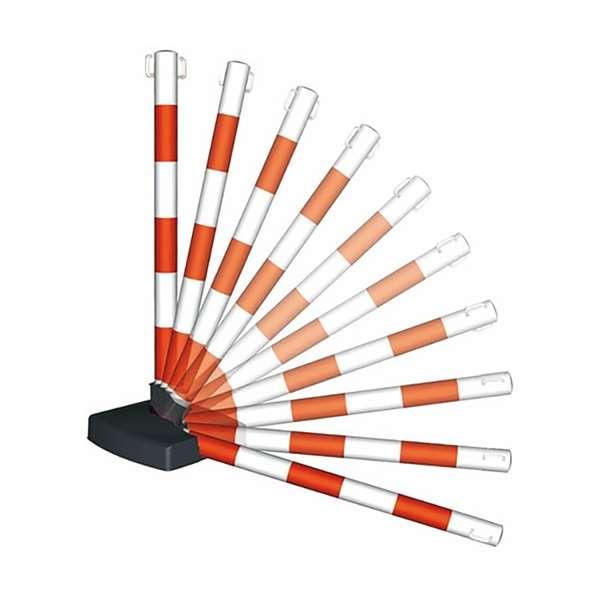 Kettenpfosten -Guarda Flex- aus Kunststoff, Höhe 900 mm, Ø 50 mm, ca. 4,5 kg, umklappbar