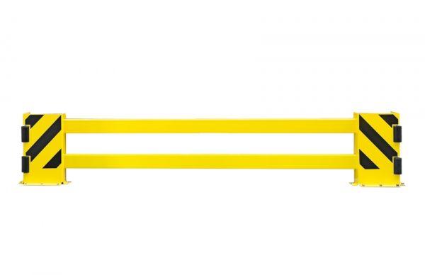 Regalschutz -Mountain- aus Stahl, Höhe 500 mm, mit verstellbarer Breite u. Leitrollen, zum Aufdübeln