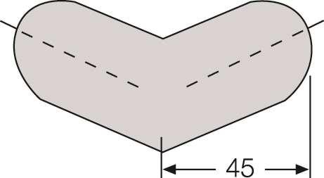 Kantenschutz-Zubehör Kreis für Modelle -Safe- Außen- und Innenecken aus PU-Schaum, weiß