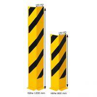 Anfahrschutz -Mountain- aus Stahl, gelb/schwarz, Höhe 800 oder 1200 mm