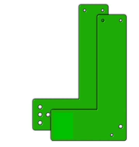 Montageplatten f. Türwächter Standard, Schwenkbed., f. Glasrahmentüren, versch. Türschilder/Farben