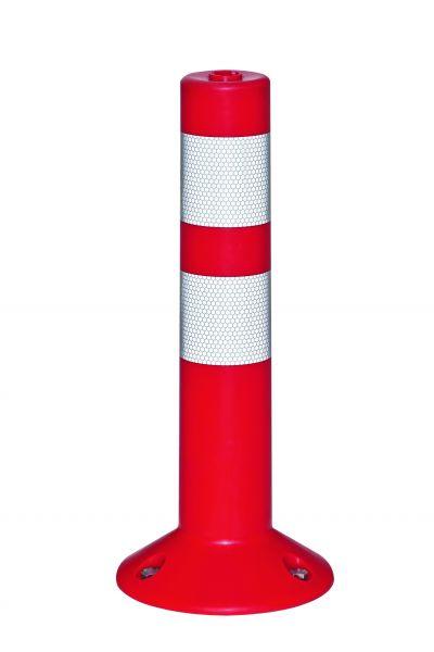 Absperrpfosten -Return-, Ø 80 mm, überfahrbar mit reflektierenden Streifen, 460 oder 760 mm