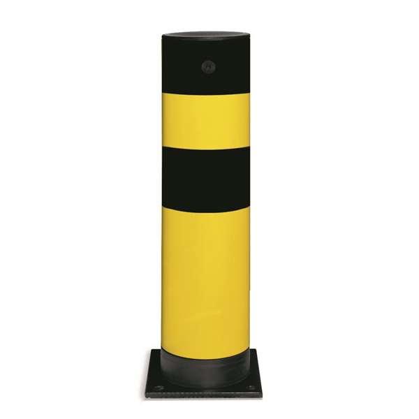 Rammschutzpoller -Spring- Ø 159 mm, Höhe 655 mm, anfahrbar, zum Aufdübeln