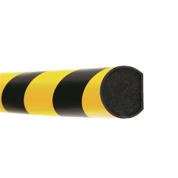 Flächenschutz -Safe- aus PU- gelb/schwarz, flexibel, Länge 1000 mm