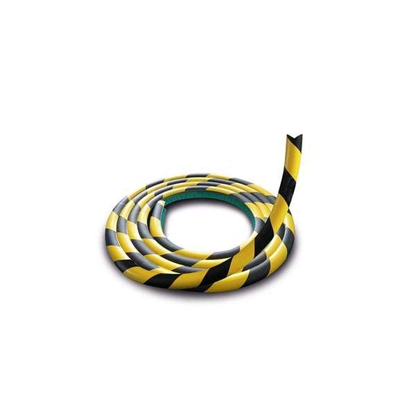 Prallschutz -Safe- aus PU, flexibel, Länge 5000 mm (Rolle), gelb/schwarz, zum Aufstecken