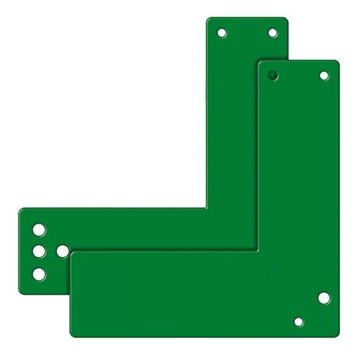 Montageplatten für Einhand-Türwächter, für Glasrahmentüren, für versch. Türschilder, versch. Farben