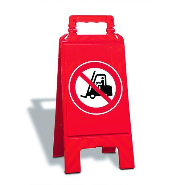 Warnaufsteller, für Verbote, zweiseitig, Höhe 610 mm