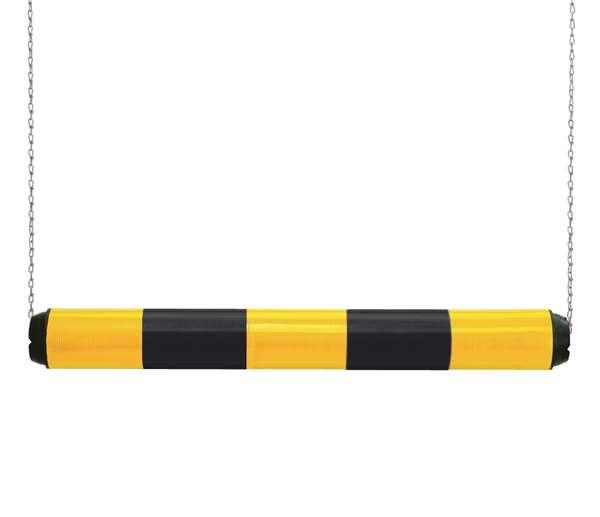 Höhenbegrenzer -Switch- aus Kunststoff, Breite 950 mm, Ø 100 mm, einteilig, schwarz-gelb