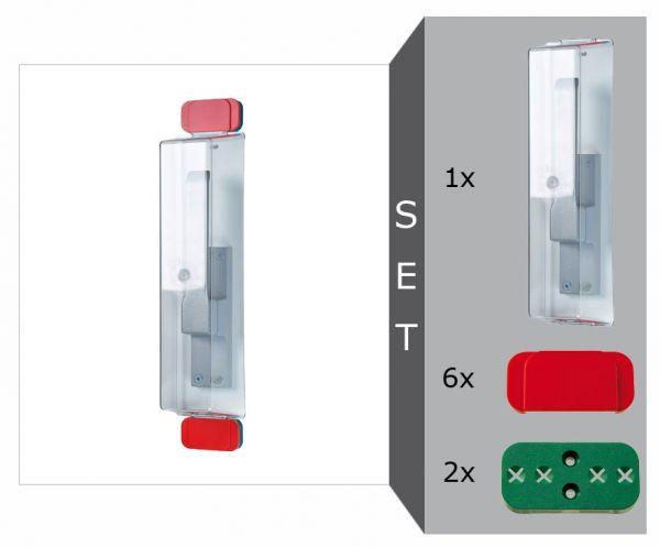 Fluchttür-Griffhaben Komplett-Set -Modell E-, für schmale Rahmen