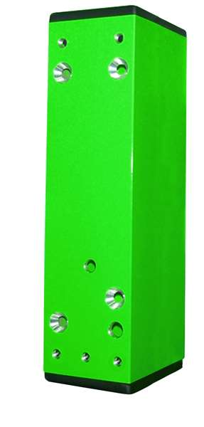 Distanzstück f. Türwächter, 30-60 mm, grün (RAL 6029) o. langn., Aufkleb./Anschr.,inkl. Abdeckkappen