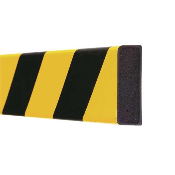 Flächenschutz -Safe- aus PU- gelb/schwarz, zum Aufdübeln, flexibel, Länge 1000 mm