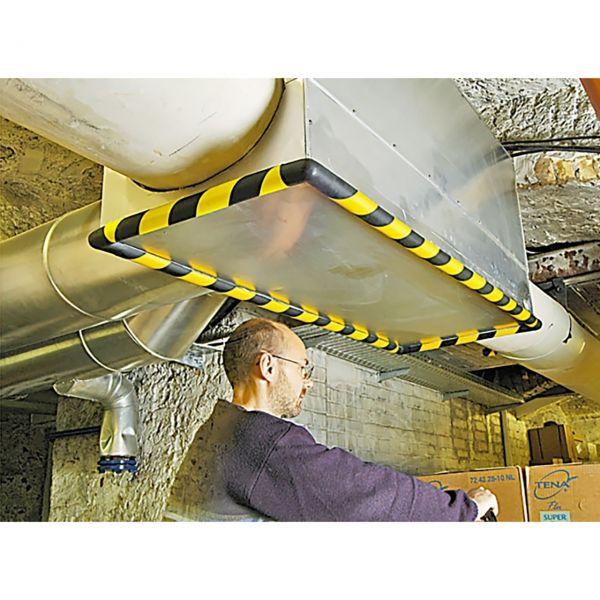 Profilschutz -Safe- aus PU-, gelb/schwarz, flexibel, Länge 1000 mm