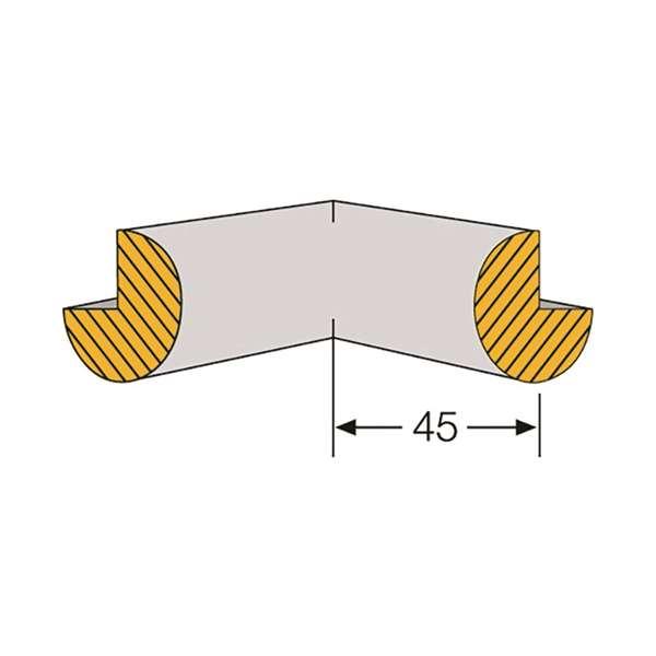 Kantenschutz-Zubehör Kreis für Modelle -Safe- Außen- und Innenecken aus PU-Schaum, schwarz