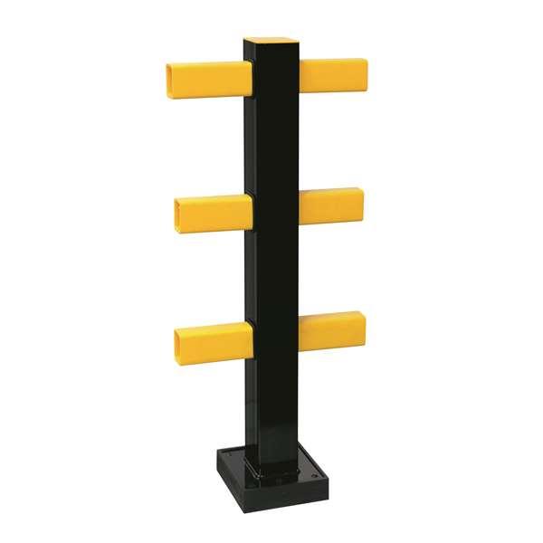 Rammschutzgeländer -Hybrid- Standpfosten, Höhe 1040 mm, versch. Ausführungen