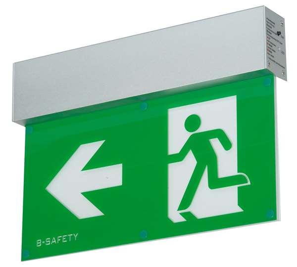 Rettungszeichenleuchte -LED Fux- inkl. Autotest-Funktion, Wand-, Pendel-, oder Deckenmontage