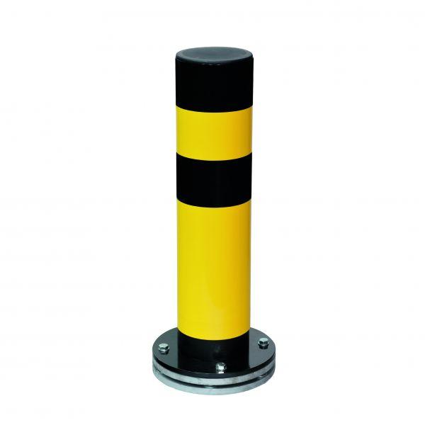 Rammschutzpoller -Spring Turn- Ø 159 mm, zum Aufdübeln, selbstaufrichtend und drehbar