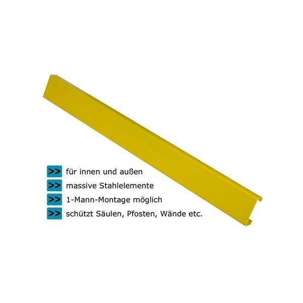 Rammschutzgeländer -Central-, Planken aus Stahl, C-Profil 100 x 40 x 3 mm