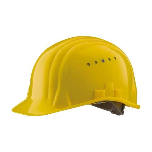 Schutzhelm -Baumeister 80-, HDPE, 6-Punkt-Gurtband, CE-geprüft, nach DIN EN 397, versch. Farben