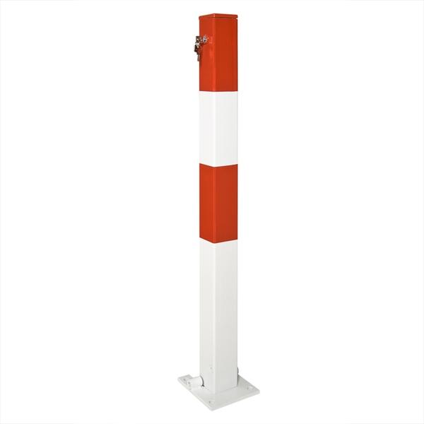Absperrpfosten -Sesam A- 70 x 70 mm, kippbar, mit Zylinderschloss, zum Einbetonieren oder Aufdübeln