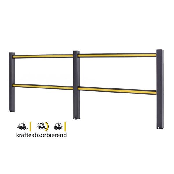 Sicherheitsgeländer -Bounce-, flexibles Material, verschiedene Längen, zum Aufdübeln