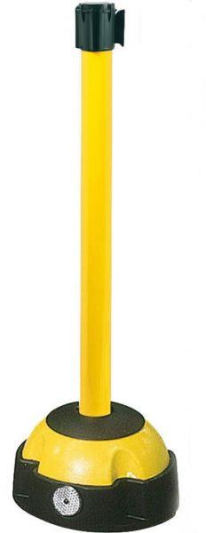 Gurt-Pfosten -Willi- mit befüllbarem Fuß, gelb lackiert