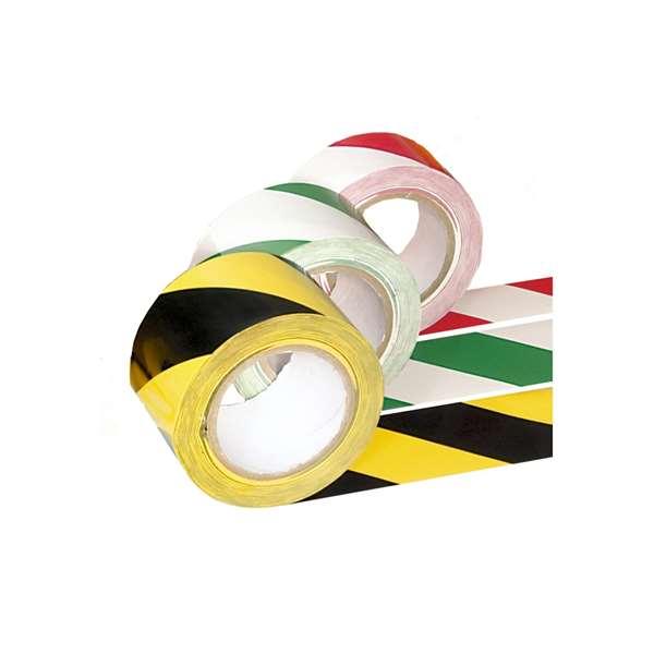 Bodenmarkierungsband -PROline-, zweifarbig, 75 mm, laminiert und extra stark