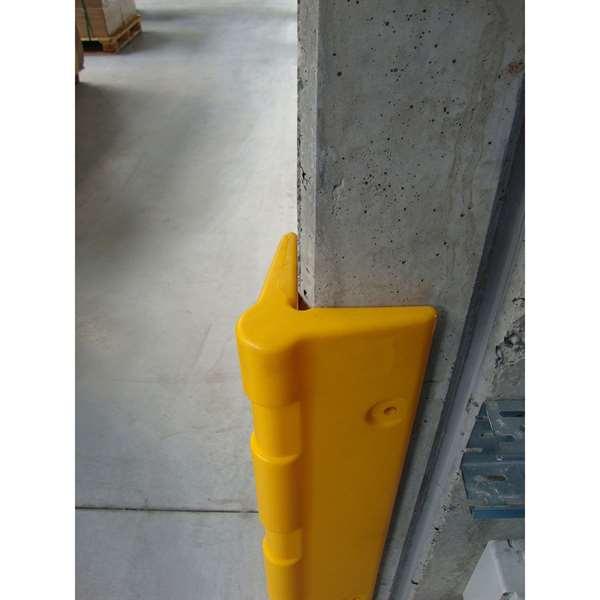 Eckanfahrschutz -Bounce- aus HDPE, 90° Winkel, Höhe 1000 mm