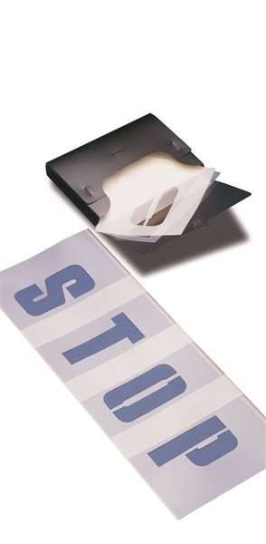 Schablonensatz -PROline-paint-, für Buchstaben und Ziffern