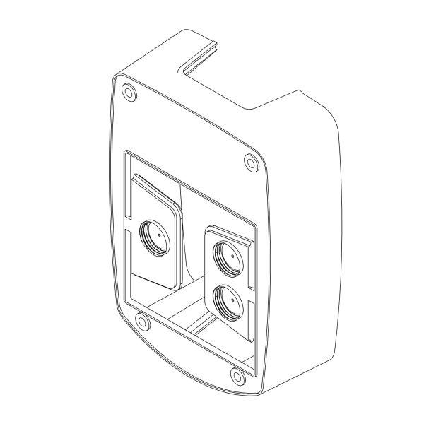 Abstandhalter für die Handmelder-Abdeckung -e-Cover® klein-, für Handmelder bis 90 x 90 mm