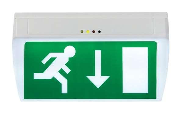 Rettungszeichenleuchte -E-Lux Standard-, Wandmontage, Erkennungsweite 22 m
