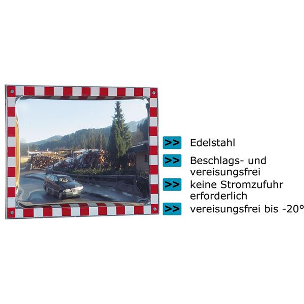 Verkehrsspiegel -DURABEL- aus Edelstahl
