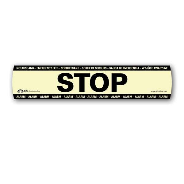 Ersatz-Aufkleber -STOP- für Fluchttürsicherungen -DEXCON-