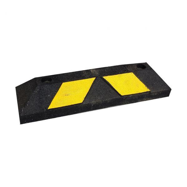 Parkplatzabgrenzung / Anfahrschwelle -ParkIt-, Länge 550 mm, schwarz-einseitig gelb