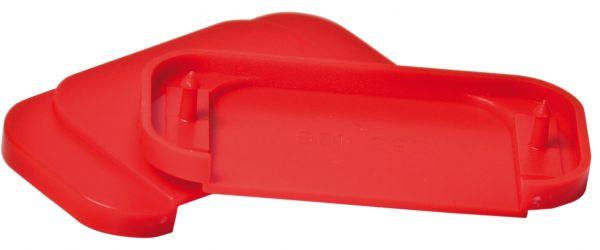 Ersatz-Oberplatten f. Fluchttür-Griffhauben, f. Modelle D2, E, K, rot, Verpackungseinheit 6 Stück
