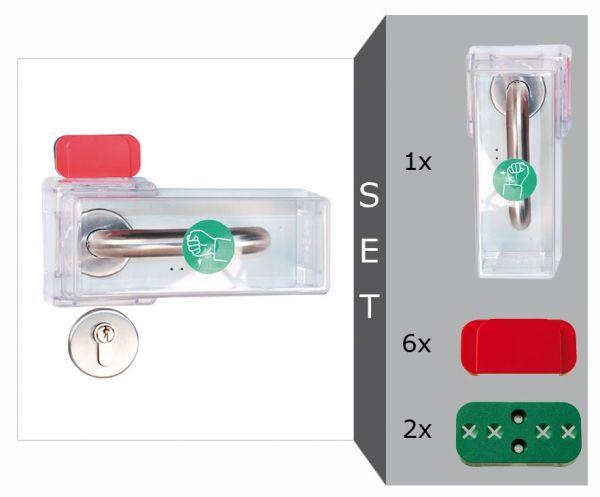 Fluchttür-Griffhauben Komplett-Set -Modell K-, für Türklinken