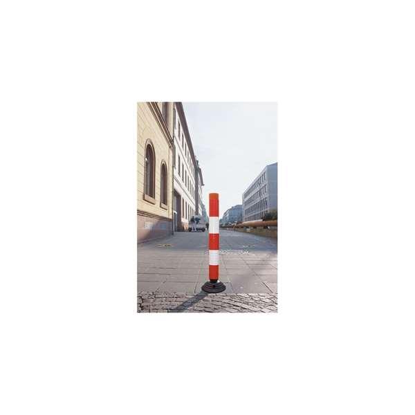 Leitzylinder -FlexCone- aus PE, Ø 100 mm, überfahrbar, selbstaufrichtend und vollreflektierend