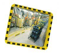 Industriespiegel -EUCRYL®- aus Acrylglas, gelb/schwarz, eckig