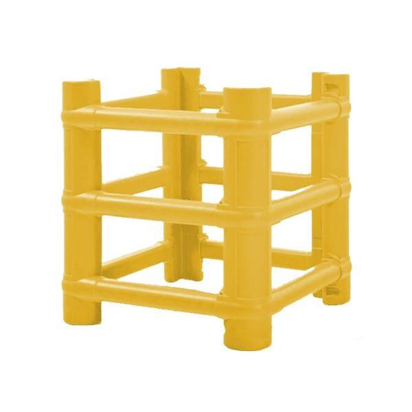 Säulenanfahrschutz -Bounce Two- aus HDPE, für eckige Säulen und Stahlträger