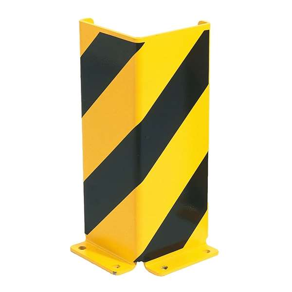 Anfahrschutz -Mountain- aus Stahl, gelb/schwarz, Höhe 400 mm