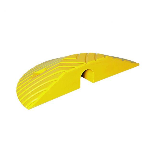 TopStop-10- bis zu 10 km/h Fahrbahnschwelle aus Kautschuk, gelb - Abschlusselement