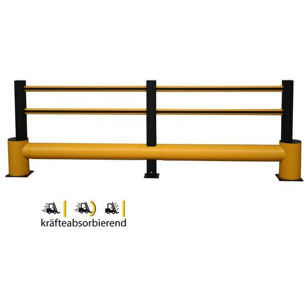 Sicherheitsgeländer -Bounce Traffic Plus-, flexibles Material, Höhe 1160 mm, Länge 3200 oder 4800 mm