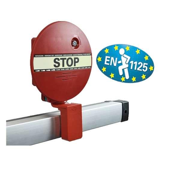 Fluchttürsicherung -DEXCON-, elektrischer Druckstangenalarm, nach DIN EN 1125