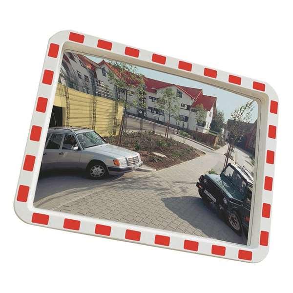 Verkehrsspiegel -EUCRYL®- aus Kunststoff, leicht, eckig