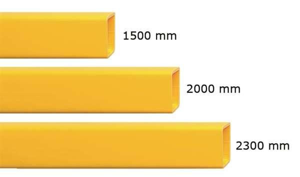 Rammschutzgeländer -Hybrid- Querbalken, flexibel, versch. Längen