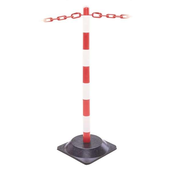 Kettenpfosten -Guarda- aus Kunststoff, Höhe 870 mm, Ø 40 mm, ca. 3 kg