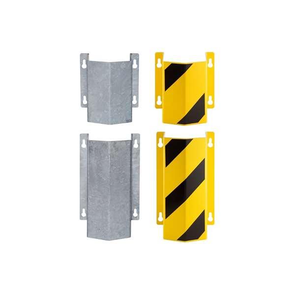 Rohrschutz -Little Mountain- aus Stahl, zur Wandmontage, Höhe 300 mm oder 500 mm, verzinkt oder gelb