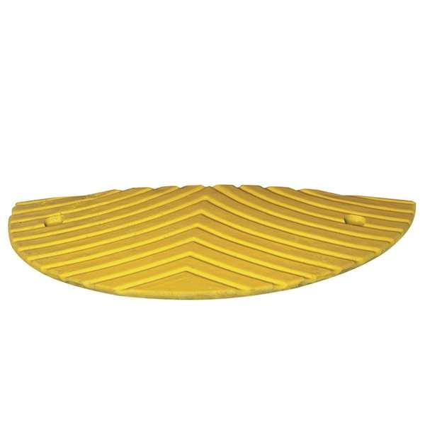 TopStop 30-RE - bis zu 30 km/h - Fahrbahnschwelle aus Recycling - Abschlusselement, gelb